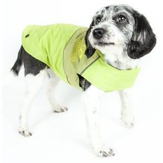 Touchdog Lightening-shield Waterproof 2-in-1 Convertible Dog Jacket with Blackshark Technology