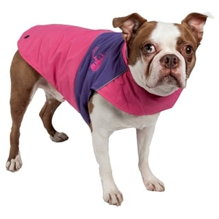 Touchdog Lightening-shield 2-in-1 Convertible Waterproof Dog Jacket with Blackshark Technology