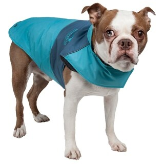 Touchdog Lightening-shield Waterproof Convertible 2-in-1 Dog Jacket with Blackshark Technology