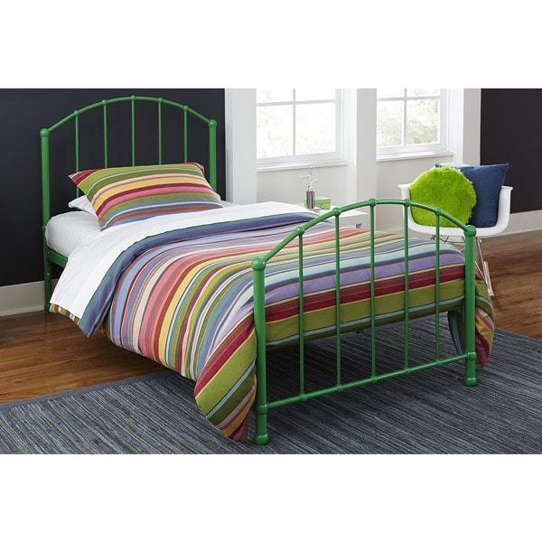 shop dhp brickmill ivy twin size metal bed free shipping today overstock 10317690. Black Bedroom Furniture Sets. Home Design Ideas