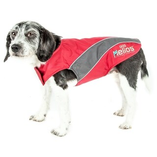 Helios Octane Softshell Neoprene Satin Reflective Dog Jacket with Blackshark Technology