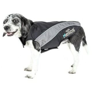 Helios Octane Reflective Softshell Neoprene Satin Dog Jacket with Blackshark Technology
