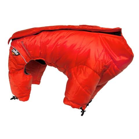 Helios Thunder-crackle Full-body Waded-plush Adjustable and 3m Reflective Dog Jacket - Red