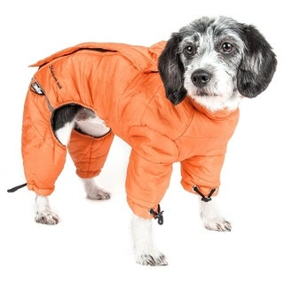 Helios Thunder-crackle Full Body Waded Plush Adjustable and 3m Reflective Dog Jacket