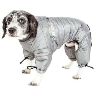 Helios Thunder-crackle Full-body Waded Plush Adjustable and 3m Reflective Dog Jacket