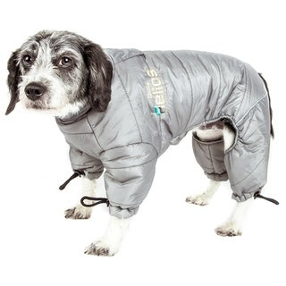 Helios Thunder-crackle Full-body Waded Plush Adjustable and 3m Reflective Dog Jacket