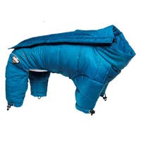 Helios Thunder-crackle Full Body Waded-plush Adjustable and 3m Reflective Dog Jacket - Blue