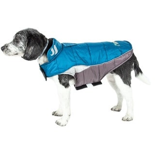 Helios Hurricane-waded Plush Reflective Dog Coat with Blackshark Technology