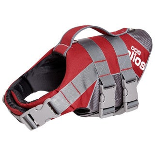 Helios Splash-explore Outer Performance Adjustable 3m Reflective Buoyant Dog Harness and Life Jacket