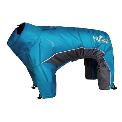 Helios Blizzard Blue/Charcoal Adjustable Full Bodied 3M Reflective Dog Jacket