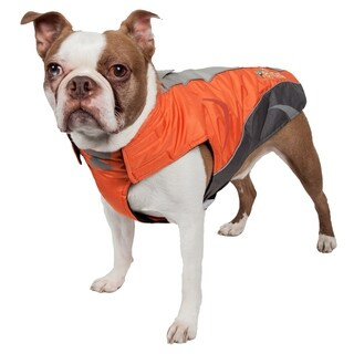 Helios Altitude-mountaineer Wrap Protective Waterproof Dog Coat with Blackshark Technology (Extra large - orange, charcoal grey, light grey)