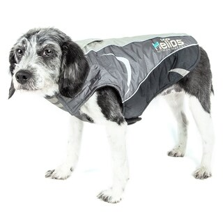 Helios Altitude-mountaineer Wrap Waterproof Dog Coat with Blackshark Technology - Grey/Charoal