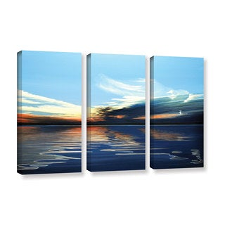 ArtWall Ken Kirsh 'Quiet Reflections' 3 Piece Gallery-wrapped Canvas Set