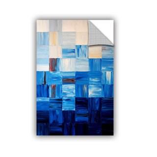 ArtAppealz Shiela Gosselin 'Bluesquares' Removable Wall Art