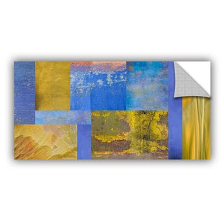 ArtAppealz Cora Niele 'Blue Yellow Collage' Removable Wall Art