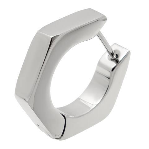 Stainless Steel Single Hoop Earring