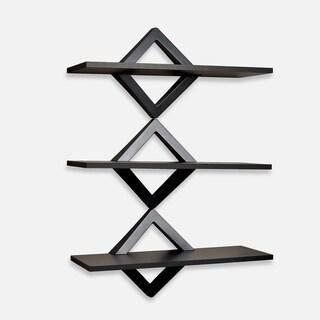 Danya B Diamonds Three-Level Black Shelving System
