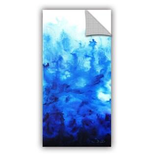 ArtAppealz Shiela Gosselin 'Blue Watery' Removable Wall Art