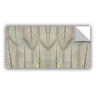 ArtAppealz Cora Niele 'Leaf Design Cream' Removable Wall Art