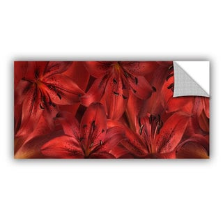 ArtAppealz Cora Niele 'Lily Landscape Red' Removable Wall Art