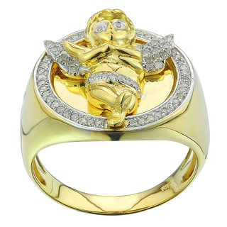 10k Yellow Gold 1/3ct TDW Diamond Angel Ring (G-H, I2-I3)