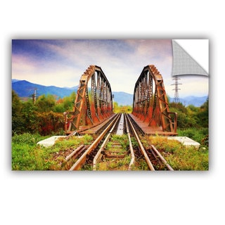 ArtAppealz Dragos Dumitrascu 'Iron Bridge' Removable Wall Art