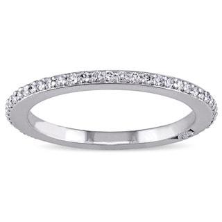 Miadora Signature Collection 18k White Gold 1/3ct TDW Diamond Eternity Ring (G-H, SI1-SI2)