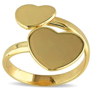 Miadora Yellow Silver Bypass Heart Ring|https://ak1.ostkcdn.com/images/products/10317947/P17429415.jpg?impolicy=medium