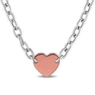 Miadora Two-tone Silver Necklace