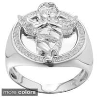 Sterling Silver Men's 1/3ct TDW Diamond Angel Fashion Ring (G-H, I2-I3)