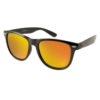 Urban Eyes Men's/ Unisex Wayfarer Flash Rectangular Sunglasses