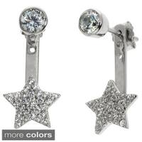 Eternally Haute Goldplated Pave Star Front Back Ear Cuffs