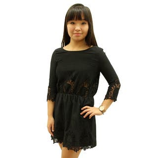 Relished Women's Ashley Black Dress https://ak1.ostkcdn.com/images/products/10318046/P17429512.jpg?impolicy=medium