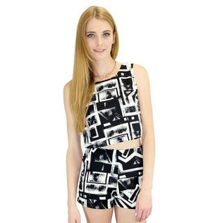 Relished Women's Go Graphic Crop Top 2-piece Set