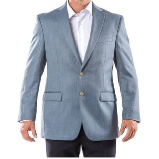 Men's Designer Blue Basket Weave Sport Coat