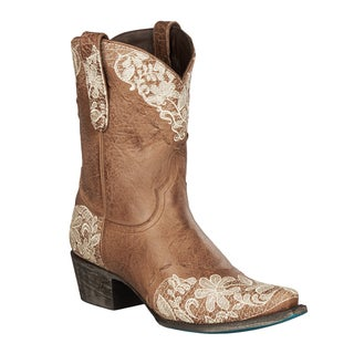 "Lane Boots ""Jeni Lace Shortie"" Women's Leather Cowboy Boot"