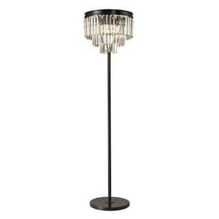 Dimond Palacial 3-light Oil Rubbed Bronze Clear Crystal Floor Lamp