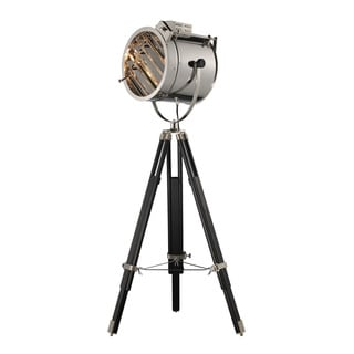 Dimond Curzon Adjustable Chrome Black Floor Lamp