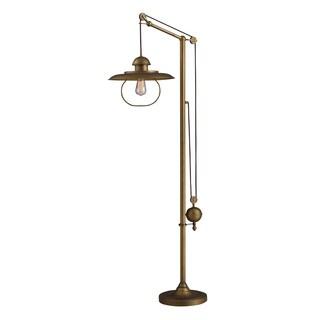 Dimond Farmhouse Antique Brass Matching Metal Shade Floor Lamp