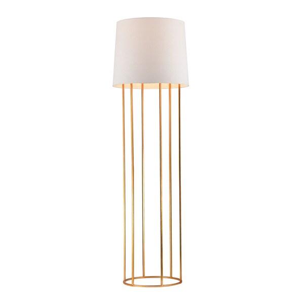 Dimond Barrel Frame Gold Leaf Floor Lamp