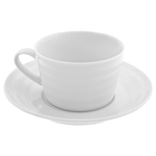10 Strawberry Street Swing Oversized Cup and Saucer (Set of 6)