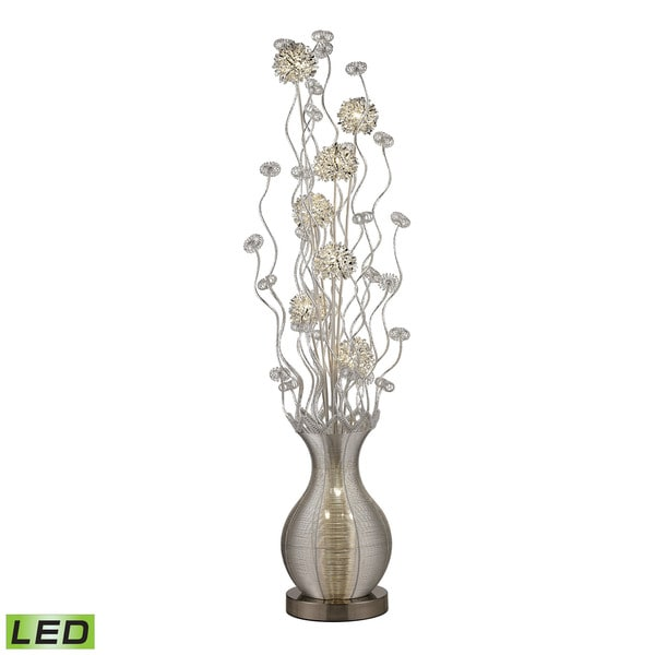 Dimond Uniontown Contemporary Floral Display Silver Floor Lamp