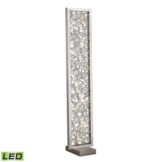 Dimond Basinger Abstract Metalwork LED Silver Floor Lamp