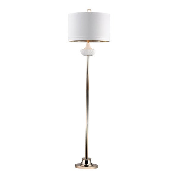 Dimond White Ribbed Cube Floor Lamp