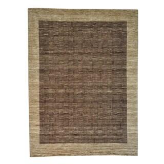 Hand Knotted 100 Percent Wool Modern Gabbeh Oriental Rug (11'6 x 15'5)