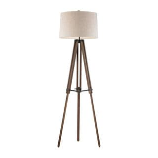 Dimond Wooden Brace Tripod Floor Lamp
