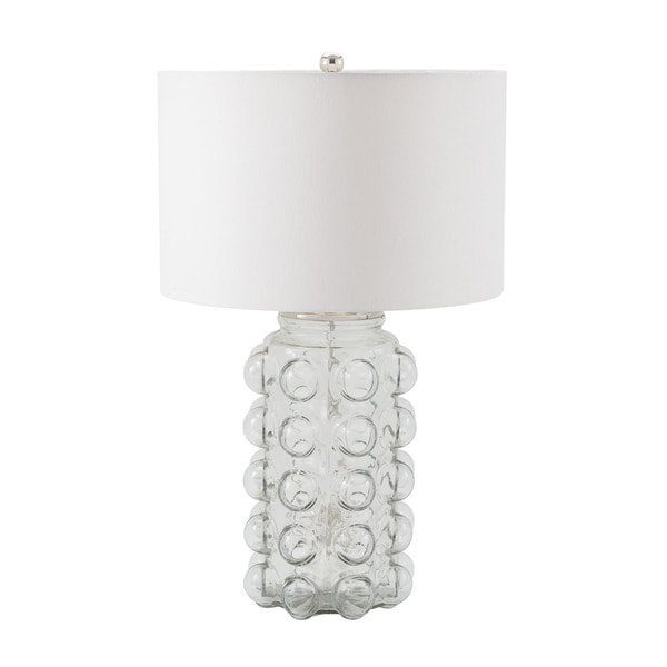 Dimond Bubble Clear Glass Off-white Shade Table Lamp