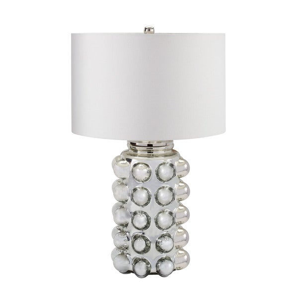 Dimond Lighting Bubble Glass Silver Mercury Table Lamp