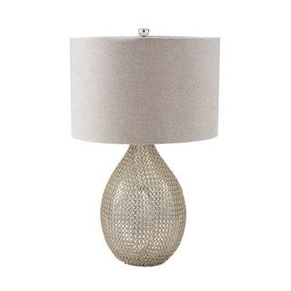 Dimond Chain Mail Raindrop Silver Mercury Table Lamp