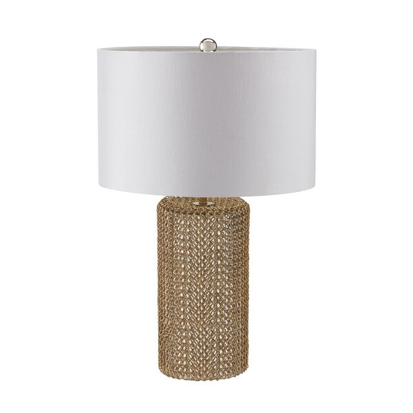 Dimond Chain Mail Raindrop Silver Mercury Gold Table Lamp